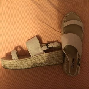 JustFab Platform Sandals